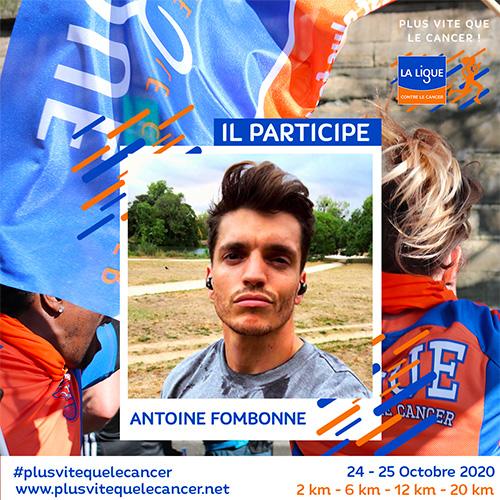 Antoine-Fombonne-amabassadeur de la course virtuelle Plus vite que le cancer