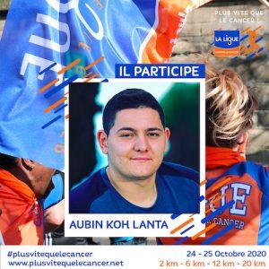 Aubin-Koh-Lanta-ambassadeur de l'opération Plus vite que le cancer