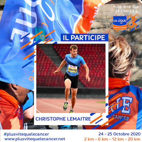 Christophe-Lemaitre-ambassadeur de la course virtuelle plus vite que le cancer
