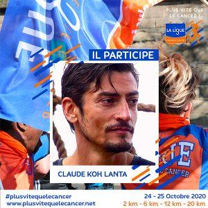 """Claude-Koh-Lanta-ambassadeurs de la course virtuelle """"Plus vite que le cancer !"""""""