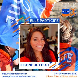Justine-Hutteau-ambassadrice course virtuelle plus vite que le cancer