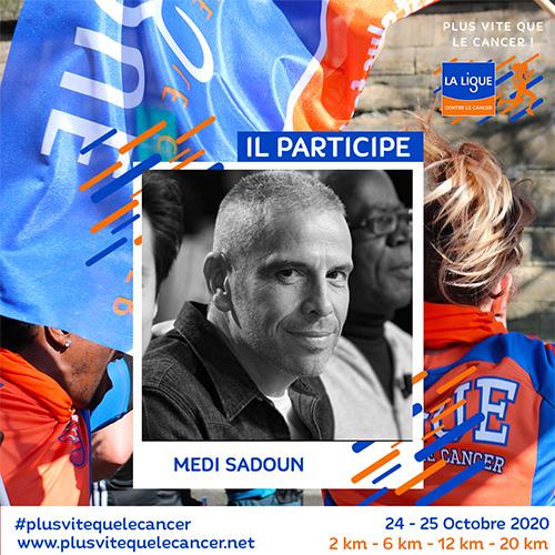 Medi-Sadoun-ambassadeur course virtuelle plus vite que le cancer !