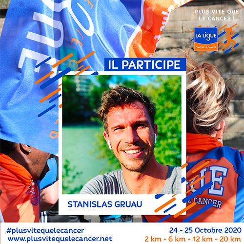 Stanislas-Gruau-ambassadeur de la course virtuelle Plus vite que le cancer