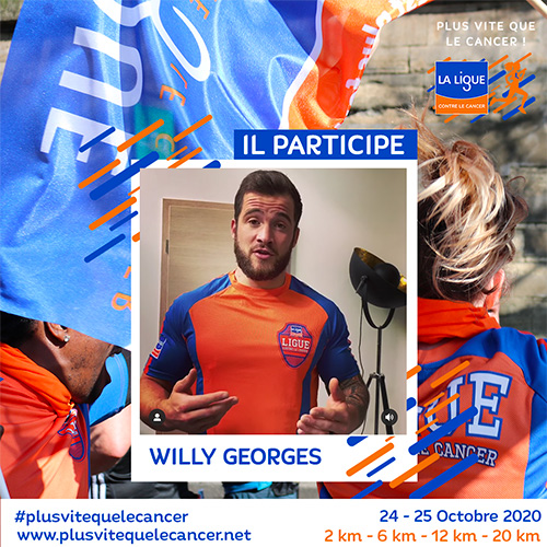 Willy-Georges-ambassadeur de la course virtuelle Plus vite que le cancer