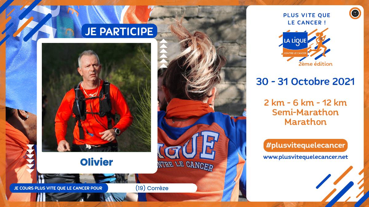 Course virtuelle Plus vite que le cancer Olivier participe visuel facebook-linkedIn