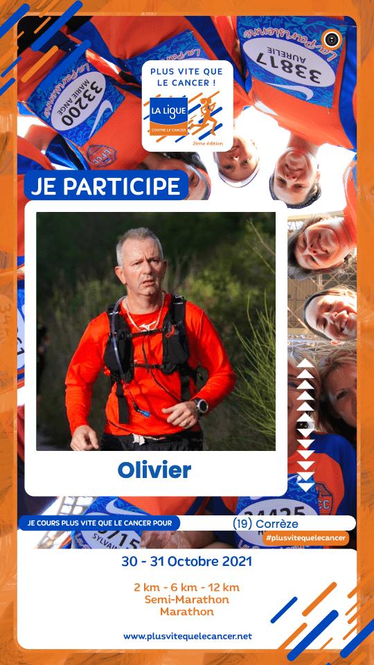 Course virtuelle Plus vite que le cancer Olivier participe visuel story