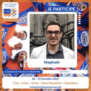 stephoki participe à plus vite que le cancer-600